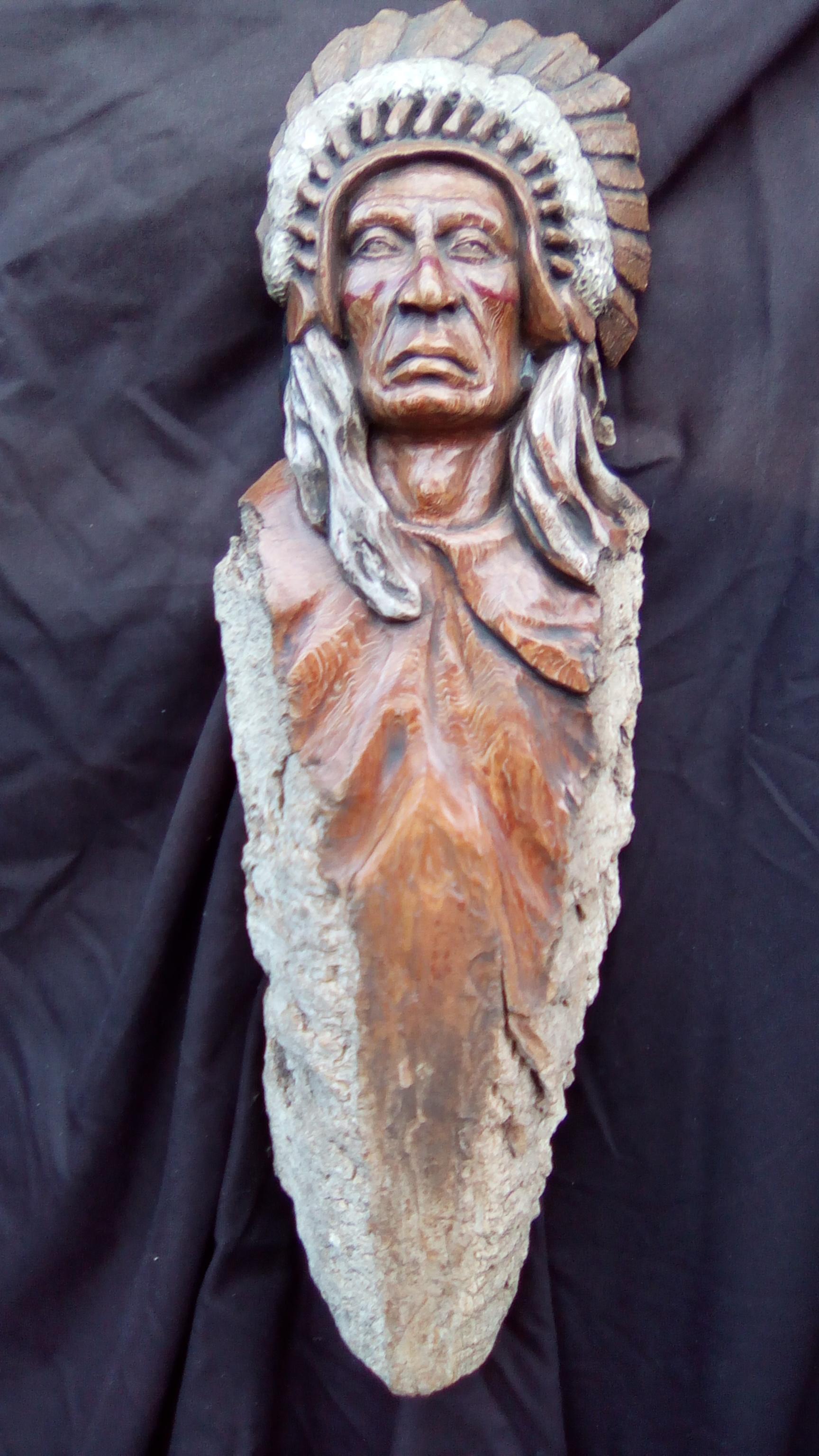 Plains Indian with War Bonnet