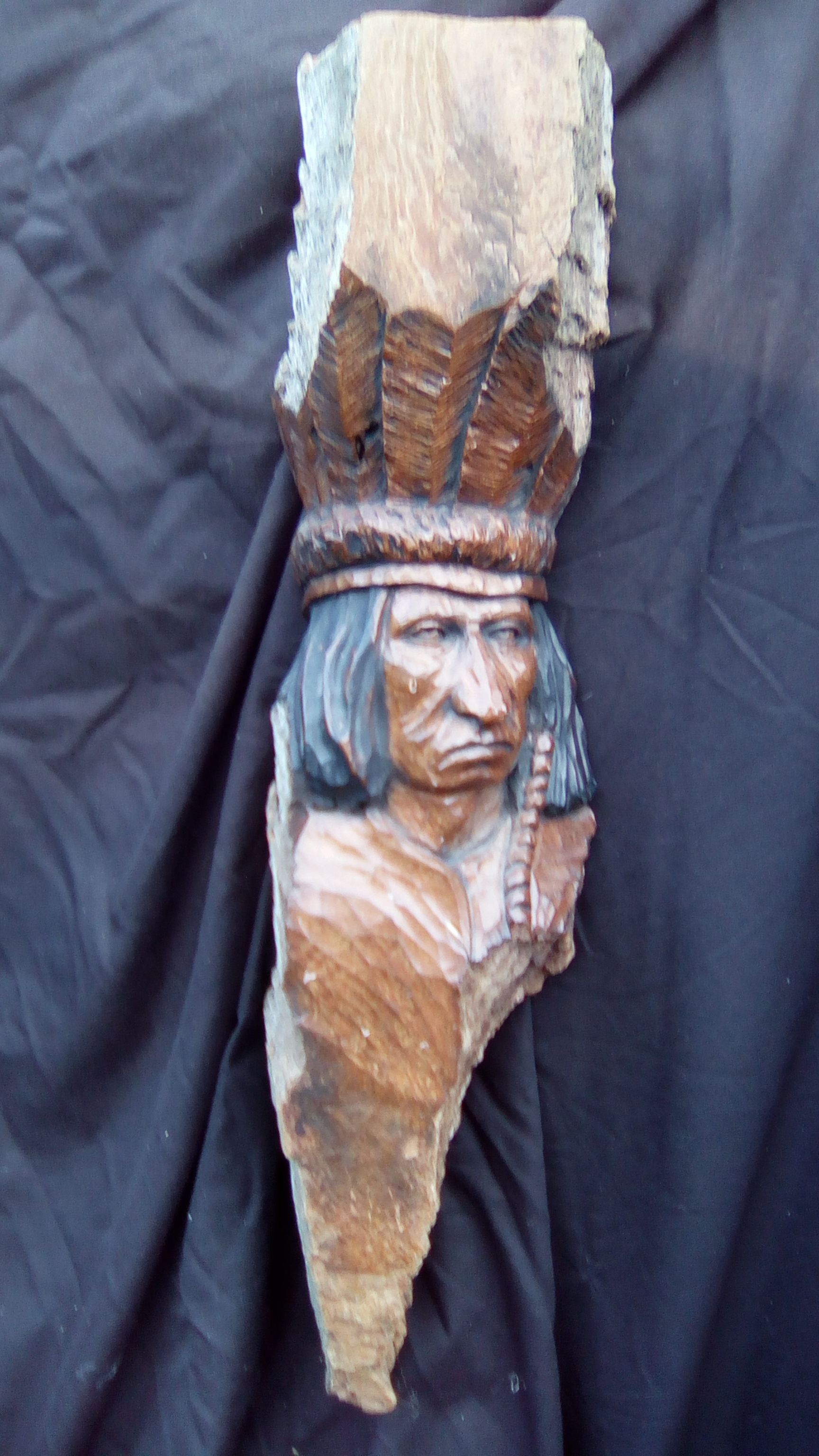 Plains Indian with Upright Bonnet